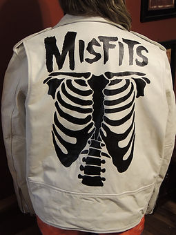 Misfits leather jacket painting art by McQuality Nose Art Studio Punk rock jackets