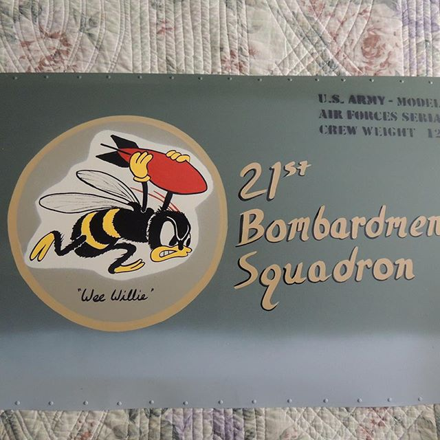 21st Bombardment Squadron nose art panel