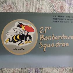 21st Bombardment Squadron nose art panel