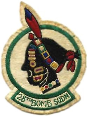 28th Bomb Squadron Leather Patch