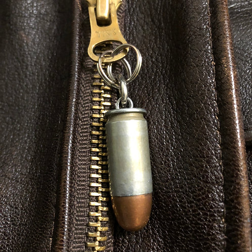 45 cal WW2 Steel Cased Bullet Zipper Pull