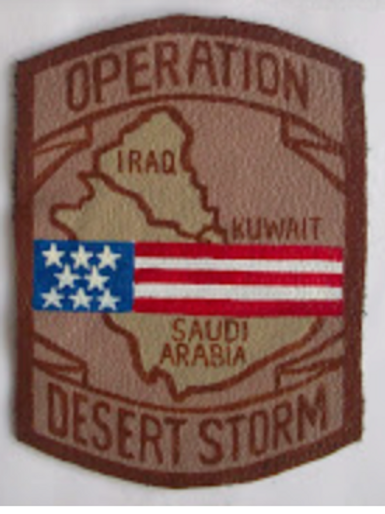 Desert Storm Leather Patch 3.5""