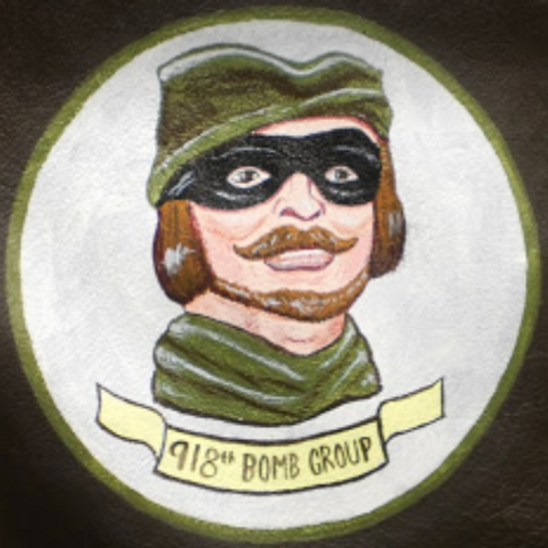 """918th Bomb Group """"Toby"""" Leather Patch"""