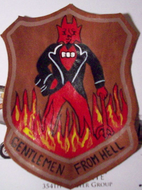 487th Bomb Group Leather Patch