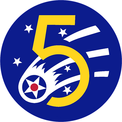 5th Air Force Leather Patch