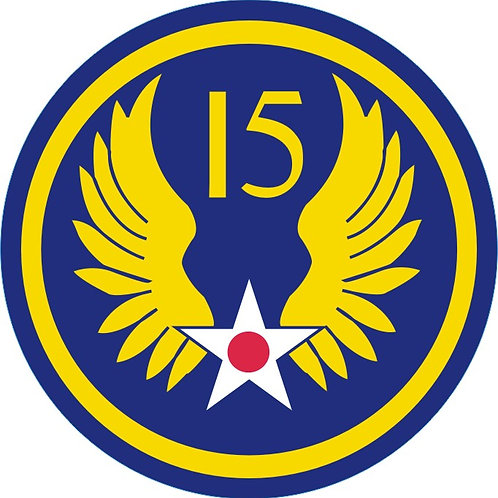 """15th Air Force Leather Patch 3.5"""""""