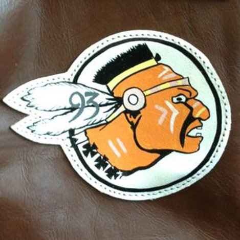 93rd Bomb Squadron Leather Patch