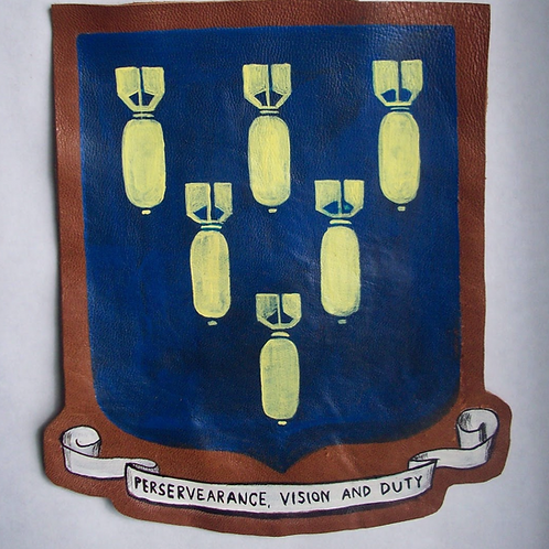 321st Bomb Group Leather Patch