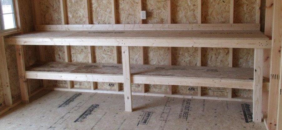 Work Bench with Shelf