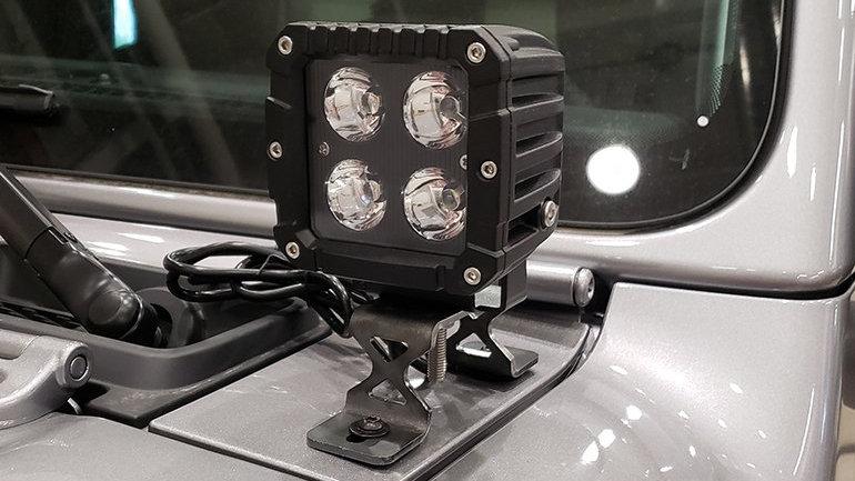 Dee Zee Single Cowl Light Bracket, 18-20 Jeep Wrangler JL