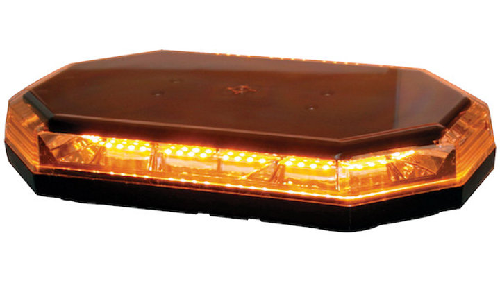 15 Inch Octagonal LED Mini Lightbar Series - Amber