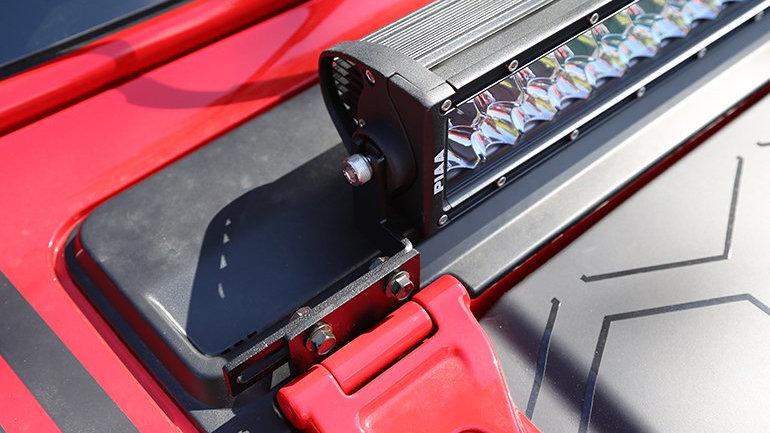 Dee Zee Hood Lightbar Brackets, 07-18 Jeep Wrangler JK & JL