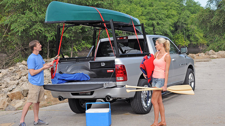 DEE ZEE Invis-A-Rack Cargo System, 02 Lincoln Blackwood, with 5.5' Bed