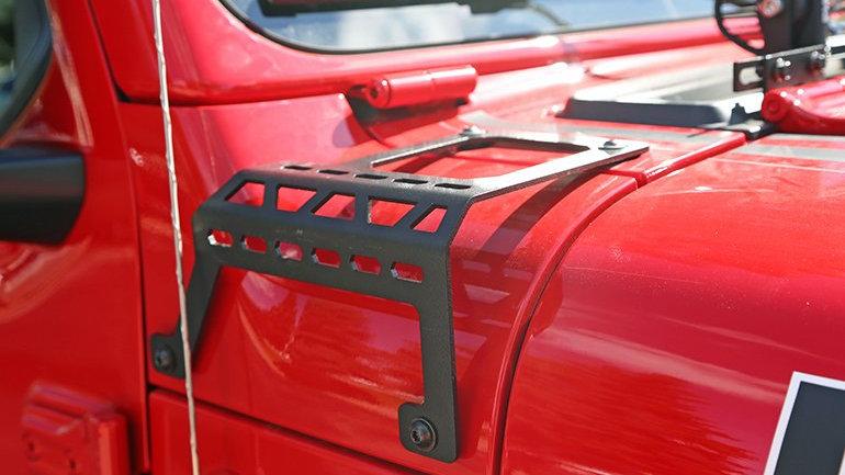 Dee Zee Cowl Accessory Brackets, 07-18 Wrangler JK