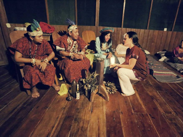 Facilitating Medicine Ceremony: Shipibo Shamans, Amazon Jungle