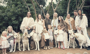 The wolf pup family