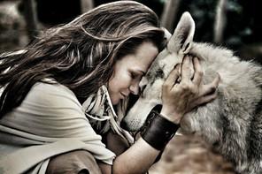 Eden and her wolf hybrid, Shai'ya Ray