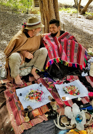 Friends and shamans, coming together to honor Pachamama