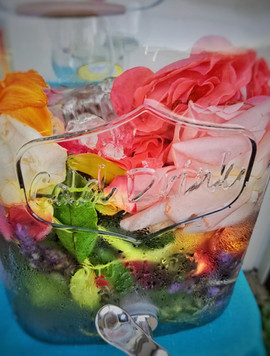 Flower water for drinking during ceremony