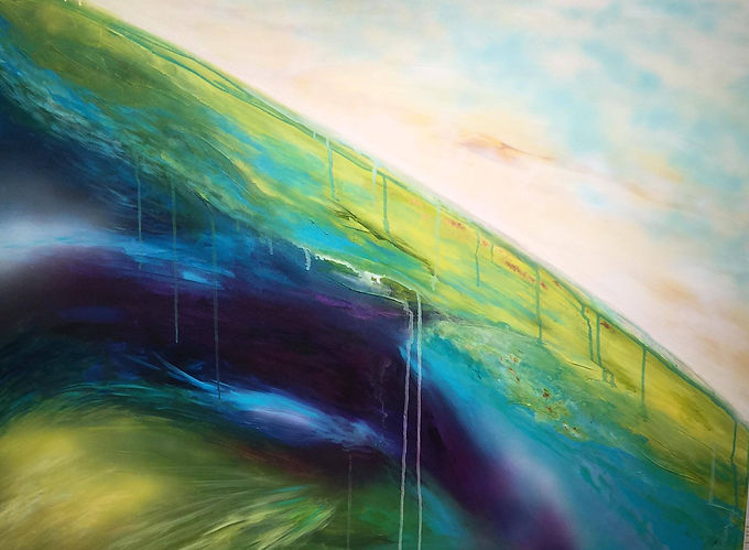 """""""Vu du ciel"""" Original par Marie-Pier Sanfaçon"""