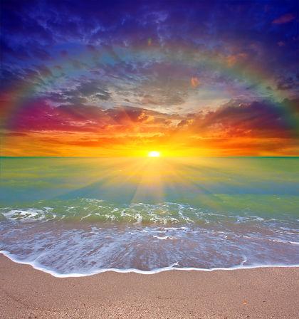 Nice sunset scene over sea.jpg