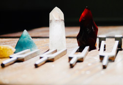 Tuning Forks with crystals
