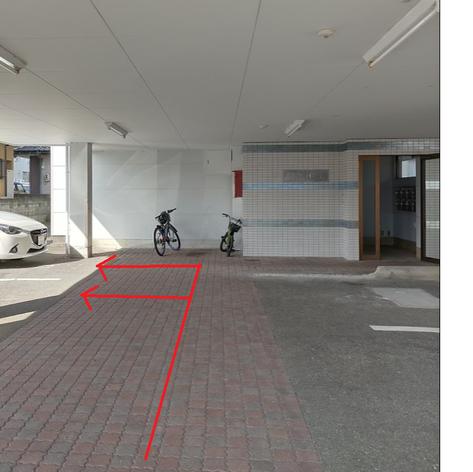 駐車場は一番奥です