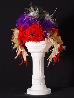 """""""Mauve and Red Oracle"""" sculpture"""