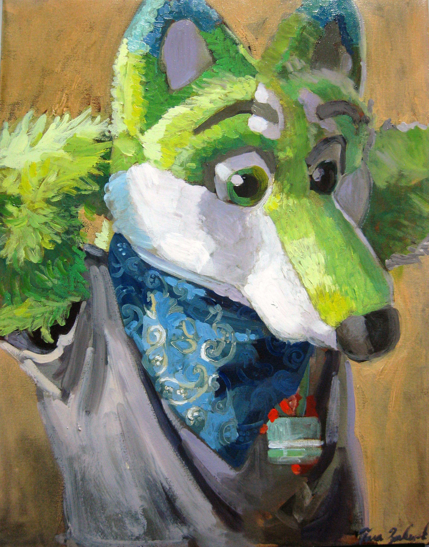 """Green Fox Furry"""