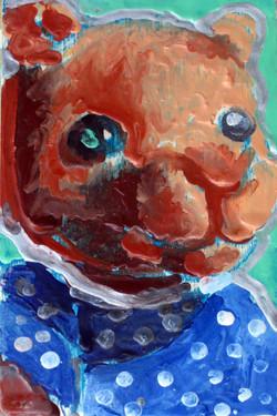 Blue Polka Dot Fuzzy Bear
