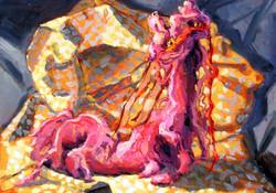 """""""Pink Checkered Ermine"""""""