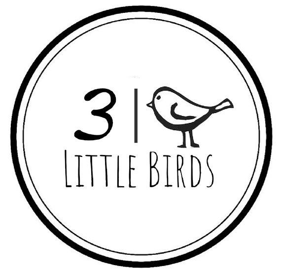3 Little birds sticker
