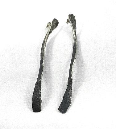 silver curl earring