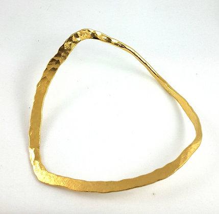 Hammered gold band ba-13