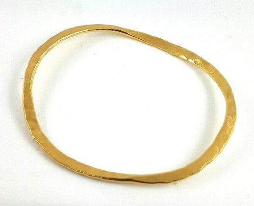 Hammered gold band ba-11