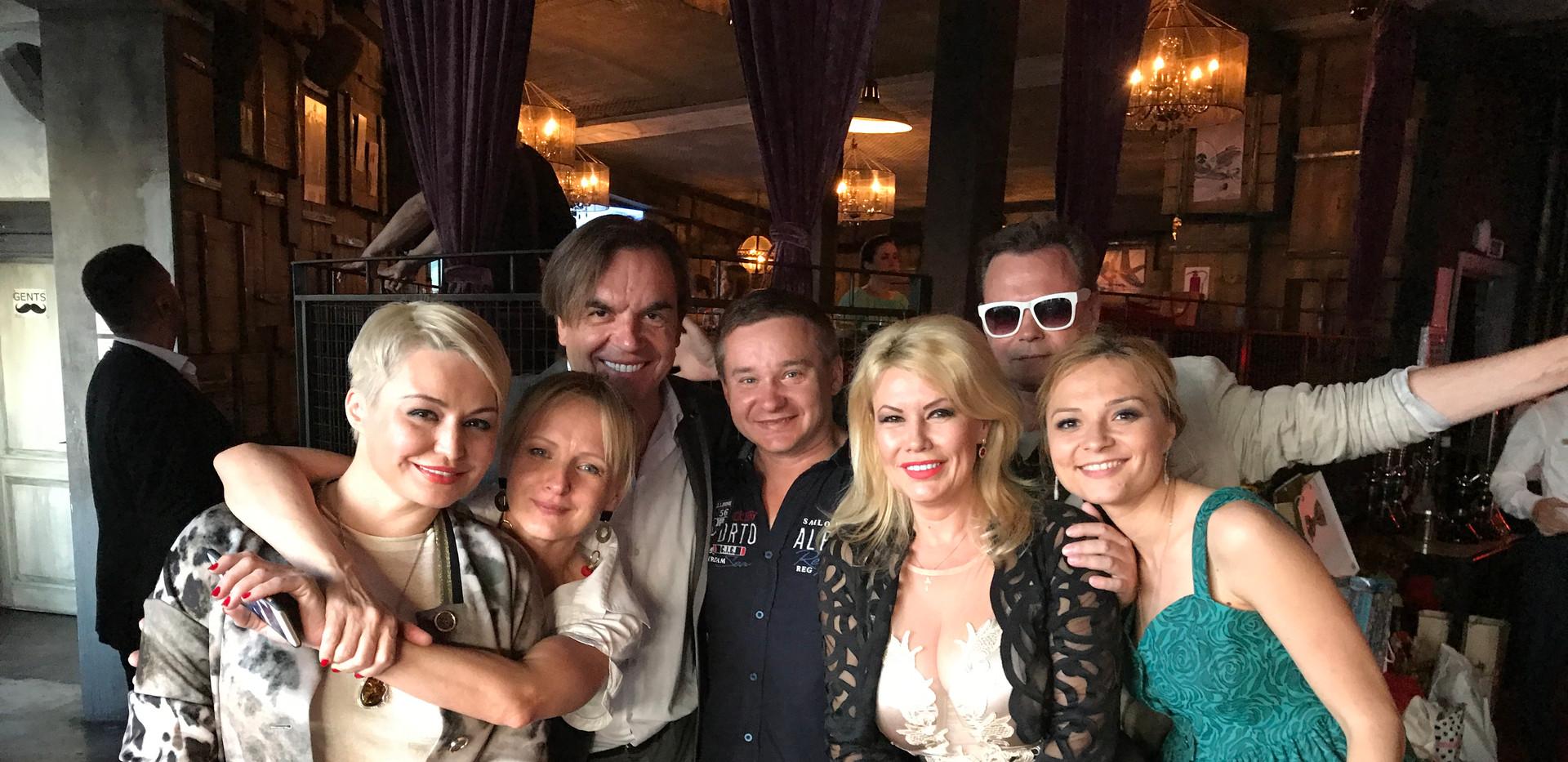 Firmenfeier mit Stars der russischen Szene