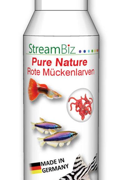 Pure Nature Rote Mückenlarven
