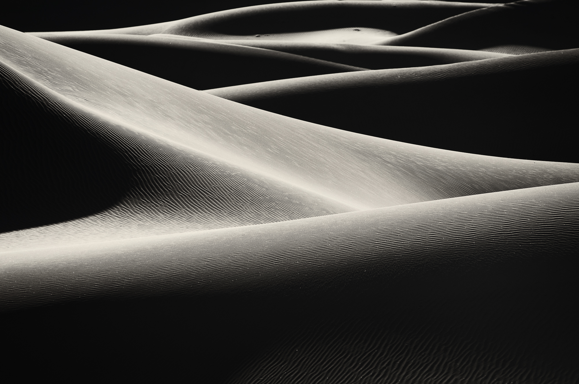 mesquite dunes, death valey, usa