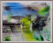 56 x 66cm Acryl auf Polyestergewebe, Holzrahmung
