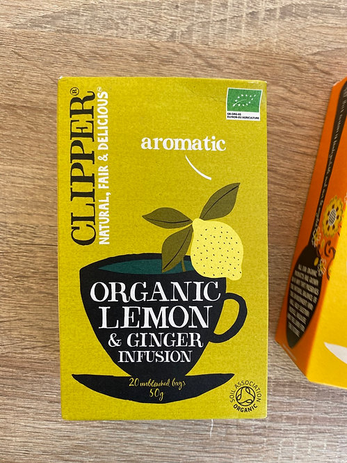 clipper lemon y ginger
