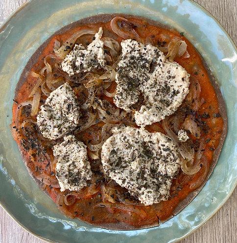 Pizza Vegana al Vacío.