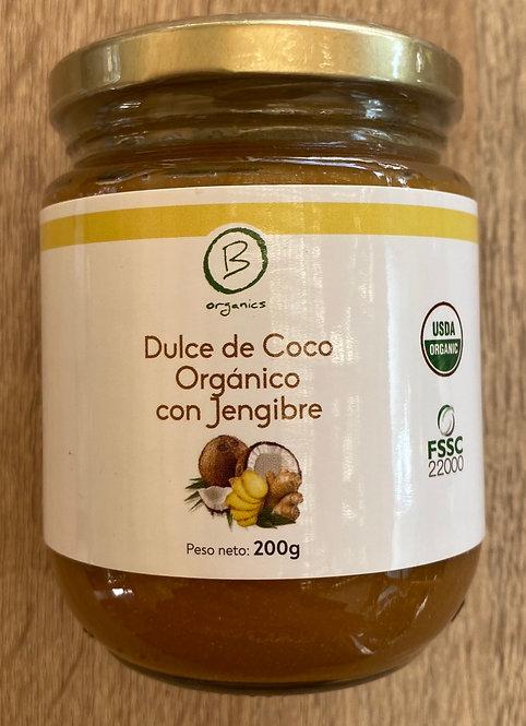 Dulce de coco organico  jengibre