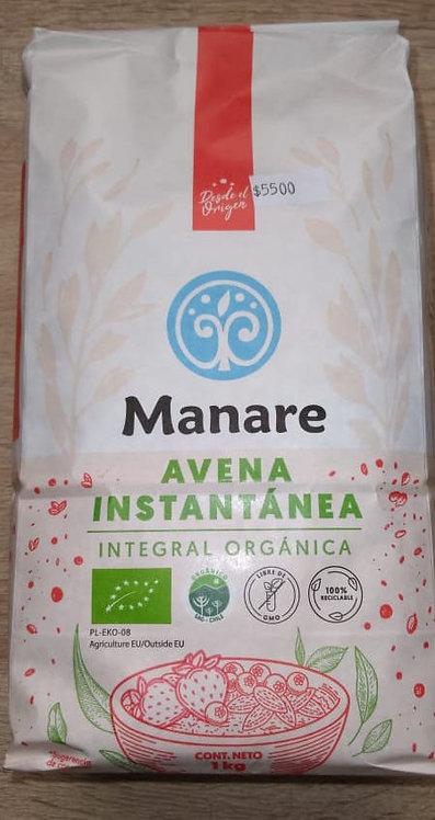 Avena instantanea Integral orgánica Manare