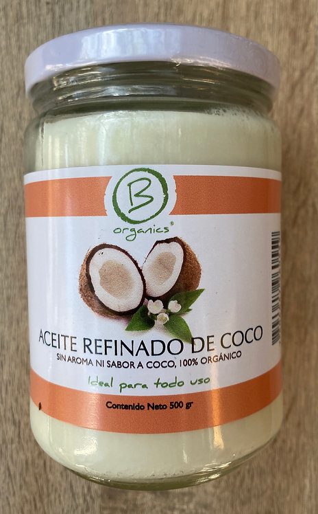 Aceite de Refinado de coco orgánico 500grs