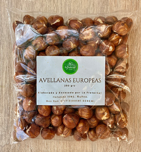 Avellanas Europeas Naturales 250grs