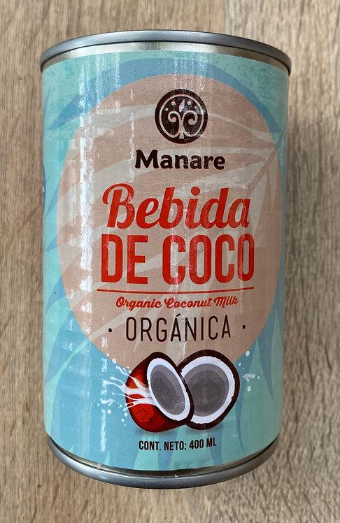 Bebida de Coco Orgánica Manare