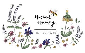2020 Illustration Hustad Honning Labels