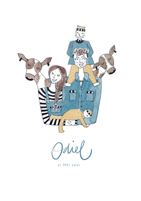 2021 Geboortekaartje voor Odiel