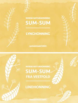 2019 Illustration Honey Labels