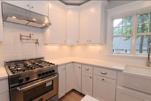 kitchen range custom cabinets
